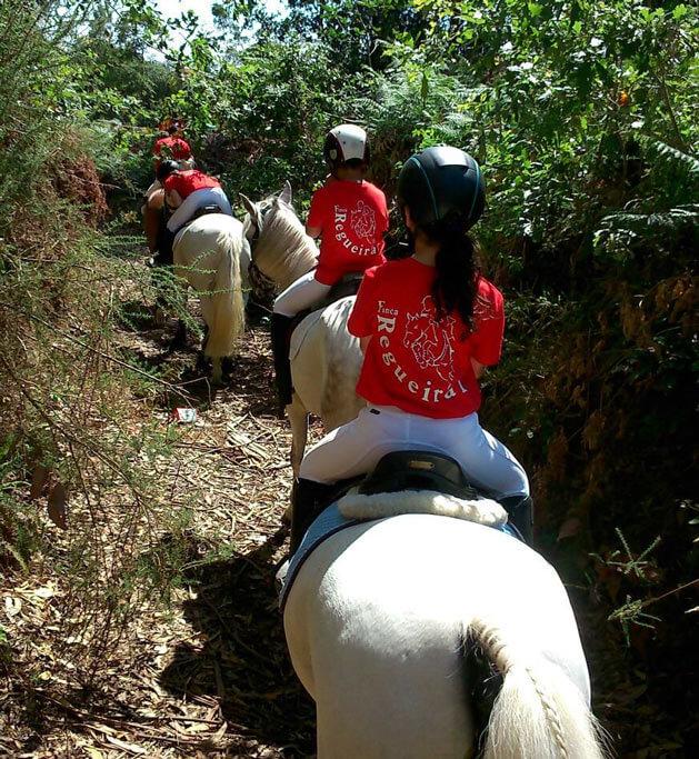 Rutas a caballo para niños