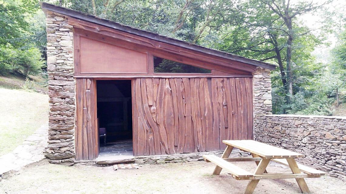 Entrada al Loft do Muiño, loft rural en Paderne