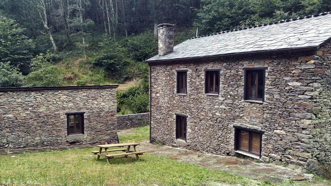 Casas rurales Muiños do Mainzoso en Paderne, coto de Chelo, A Coruña